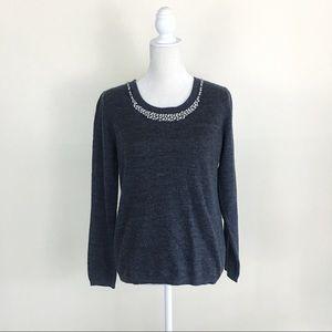 Cynthia Rowley Beaded Sweater